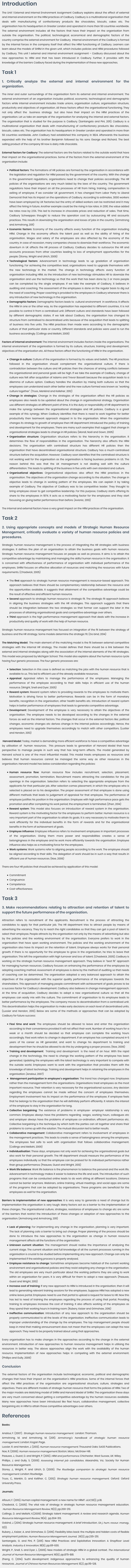 Unit 1 External and Internal Environment Assignment Help